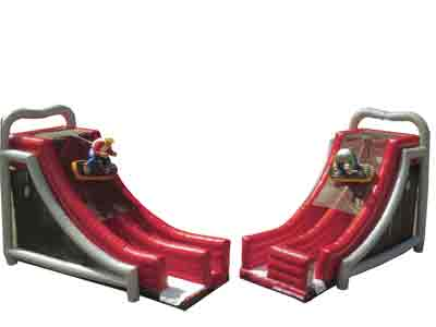 Half Pipe Inflatable Slide Rental
